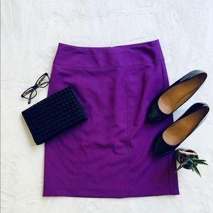 Worthington Bright Purple Pencil Skirt